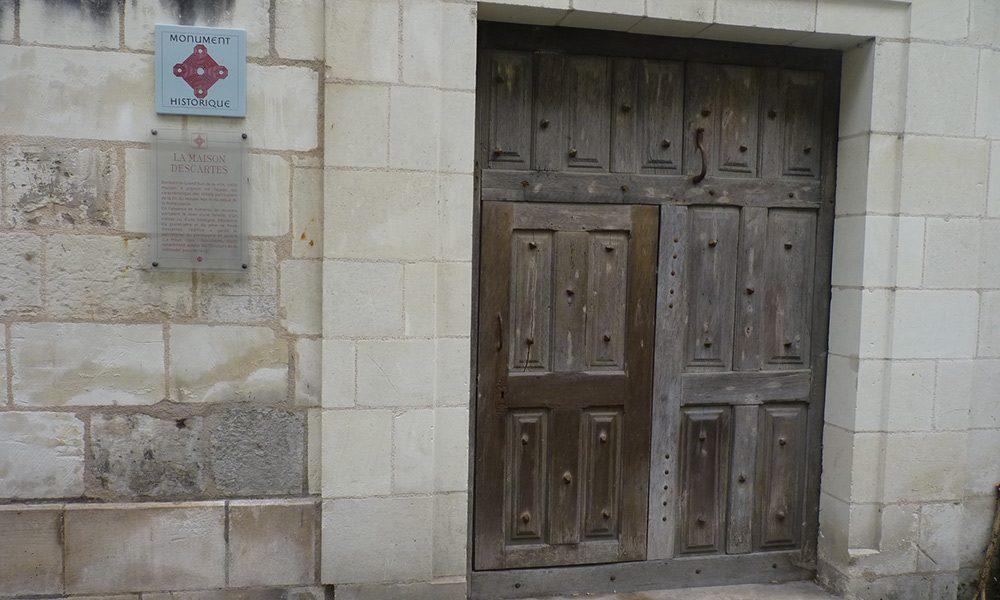 Fachada de la mansión ancestral de los Descartes en Rue Bourbon, Chatellerault, Francia