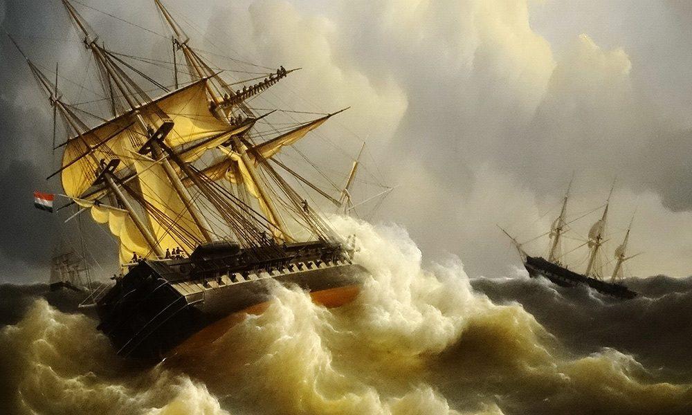Tormenta en el Mar del Norte, siglo XVII