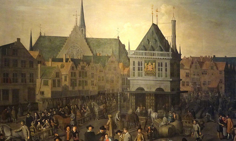 Aspecto del Dam de Ámsterdam en tiempos de Descartes