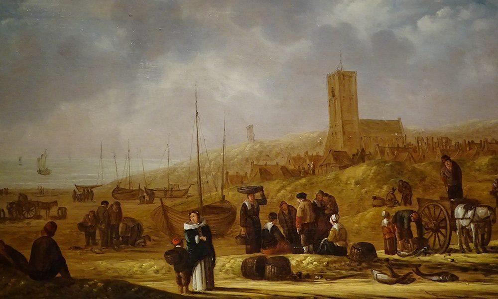 Las playas de Egmond op Zee hacia 1650;  punto de contacto de los Egmond con el Mar del Norte